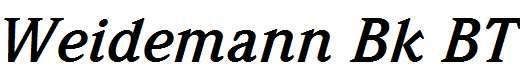 Weidemann-Bold-Italic-BT