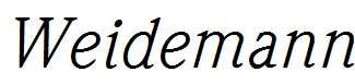 Weidemann-Italic