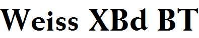 Weiss-XBd-BT-Extra-Bold