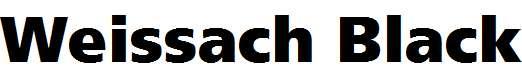 Weissach-Black
