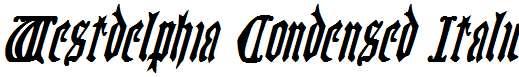 Westdelphia-Condensed-Italic