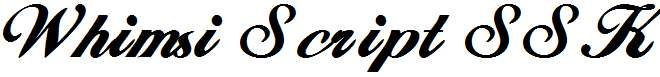 Whimsi-Script-SSK-Bold