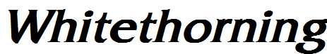 Whitethorning-Bold-Italic