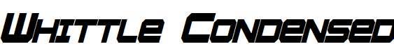 Whittle-Condensed-Bold-Italic