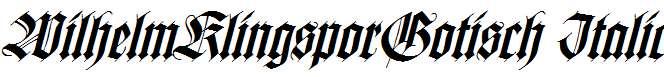 WilhelmKlingsporGotisch-Italic