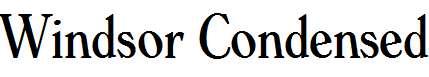 Windsor-Condensed