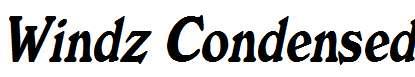 Windz-Condensed-Italic