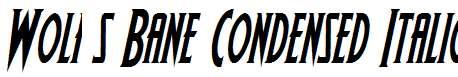 Wolf-s-Bane-Condensed-Italic