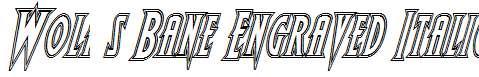 Wolf-s-Bane-Engraved-Italic
