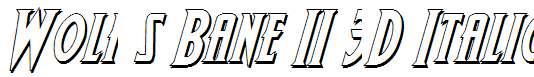 Wolf-s-Bane-II-3D-Italic