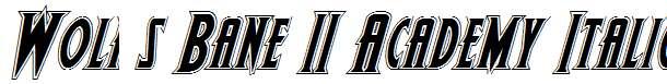 Wolf-s-Bane-II-Academy-Italic