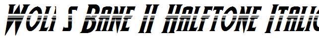 Wolf-s-Bane-II-Halftone-Italic
