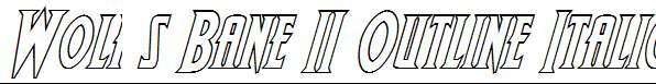 Wolf-s-Bane-II-Outline-Italic