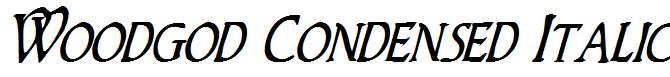 Woodgod-Condensed-Italic