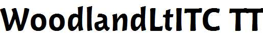WoodlandLtITC-TT-Bold