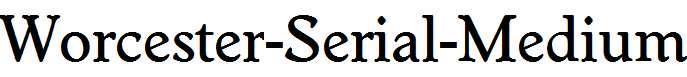 Worcester-Serial-Medium-Regular