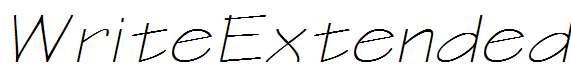 WriteExtended-Oblique