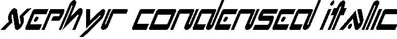 Xephyr-Condensed-Italic