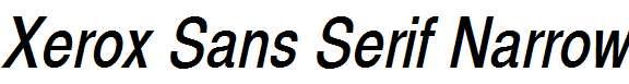 Xerox-Sans-Serif-Narrow-Oblique
