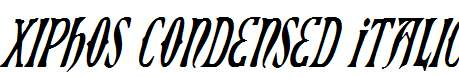 Xiphos-Condensed-Italic