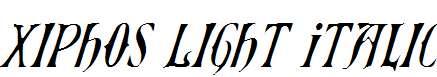 Xiphos-Light-Italic
