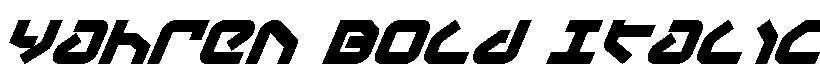 Yahren-Bold-Italic