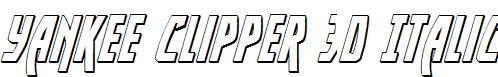 Yankee-Clipper-3D-Italic