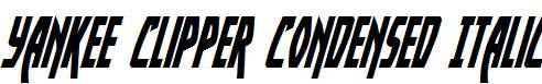 Yankee-Clipper-Condensed-Italic