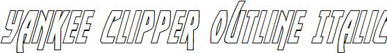 Yankee-Clipper-Outline-Italic
