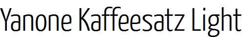 Yanone-Kaffeesatz-Light