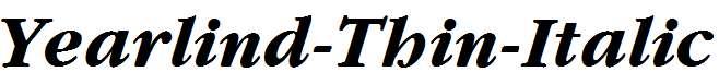 Yearlind-Thin-Italic