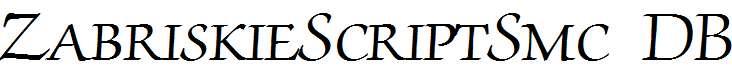 ZabriskieScriptSmc-Regular-DB