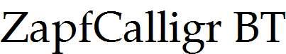 Zapf-Calligraphic-801-BT