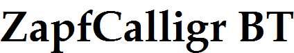 Zapf-Calligraphic-801-Bold-BT