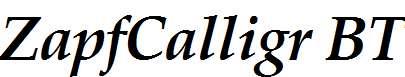 Zapf-Calligraphic-801-Bold-Italic-BT