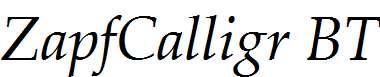 Zapf-Calligraphic-801-Italic-BT