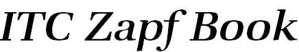 ZapfBookITCbyBT-MediumItalic