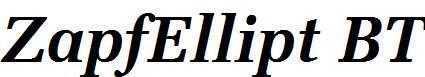 ZapfEllipt-BT-Bold-Italic