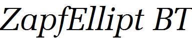 ZapfEllipt-BT-Italic