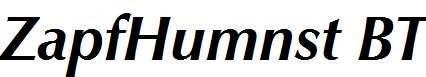 ZapfHumnst-BT-Bold-Italic