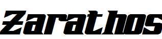 Zarathos-Bold-Italic