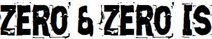Zero-Zero-Is