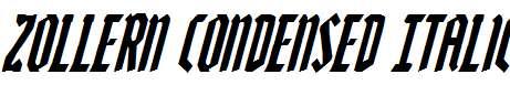 Zollern-Condensed-Italic