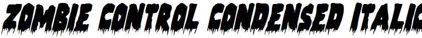 Zombie-Control-Condensed-Italic