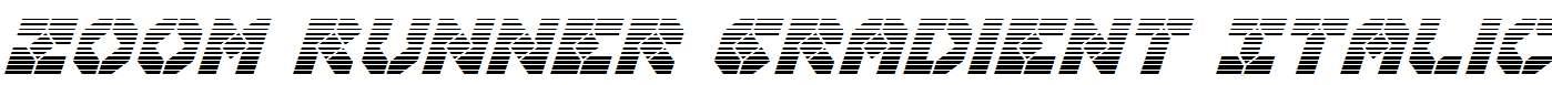 Zoom-Runner-Gradient-Italic