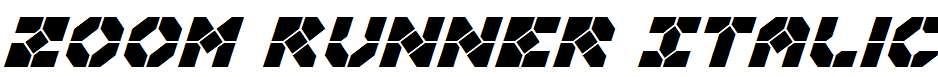 Zoom-Runner-Italic