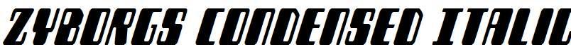 Zyborgs-Condensed-Italic