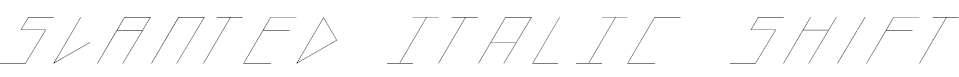 slantedITALICshift-Thin