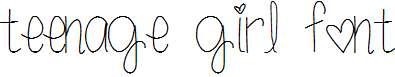 teenage-girl-font