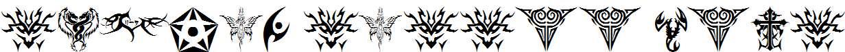 tribal-tattoo-font